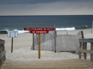 No Swimming Island Beach Sept 2014