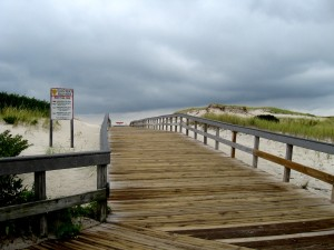 Restored Boardwalk Island Beach Sept 2014