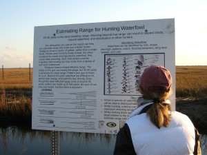 Jeanette Hooban Studies How to Shoot Ducks at Scotts Landing