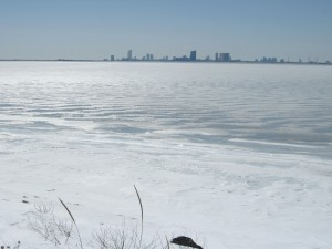 Absedon Bay Frozen, Atlantic City on the Horizon
