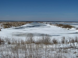Frozen Impoundment, Looking Back West