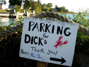 Parking for Dick's Lobsters