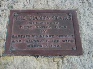 Giant's Stair Sign, Coastal Walk
