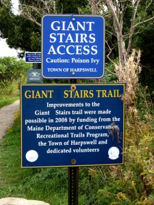 Giant's Stairs Signs for Coastal Walk