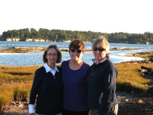 Marilyn Weitzel, Sally Lee, Margy Cowgill - my Sister and our cherished cousins on Maine Coast