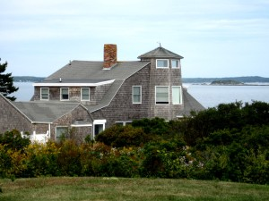 Typical Maine Coast Weathered Stately Home