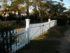 Sundown and White Fence