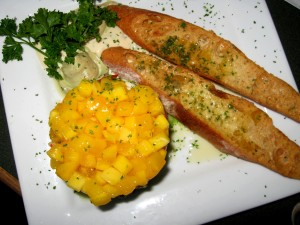 Lobster, Avocado and Mango with Sauteed Baguette, The Lobster Pot, Provincetown
