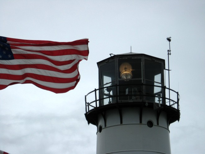 Chatham Light Storm-blown Flag jpg