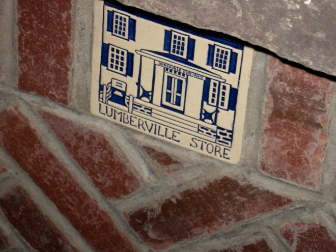 Fireplace Tile Lumberville General Store Jan. 2017
