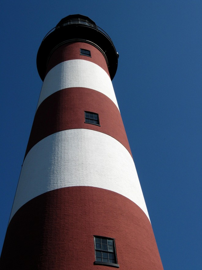 October Blue Sky A Assateague LIght