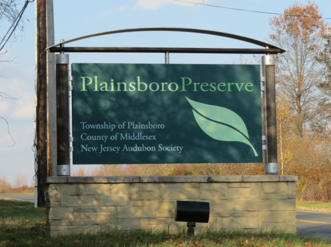 Plainsboro Preserve Sign courtesy of Novo Nordisk