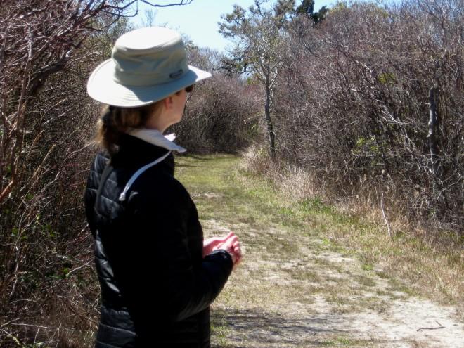 Jeanette Spizzle Creek Trail Island Beach April 2016